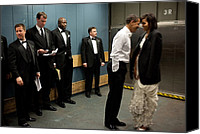 Bswh052011 Canvas Prints - President And Michelle Obama Share Canvas Print by Everett