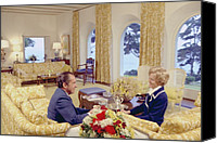 Clemente Canvas Prints - President And Pat Nixon Sitting Canvas Print by Everett