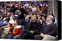 Barack Canvas Prints - President Barack Obama Attends Canvas Print by Everett