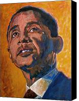Portrait Barack Obama Canvas Prints - President Barack Obama Canvas Print by David Lloyd Glover