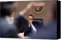 Bswh Canvas Prints - President Barack Obama Laughs Canvas Print by Everett