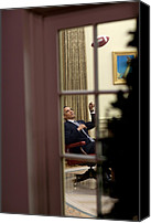 Barack Canvas Prints - President Barack Obama Plays Canvas Print by Everett