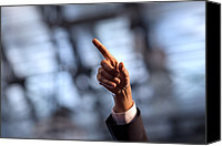 Barack Canvas Prints - President Barack Obamas Gestures While Canvas Print by Everett