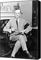 The White House Canvas Prints - President Calvin Coolidge Canvas Print by International  Images