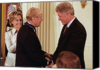 First Ladies Canvas Prints - President Clinton Awards Former Canvas Print by Everett