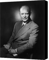 General Dwight D Eisenhower Photo Canvas Prints - President Dwight Eisenhower Canvas Print by War Is Hell Store