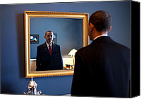 Barack Canvas Prints - President-elect Barack Obama Checks Canvas Print by Everett