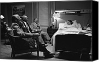 Hostess Canvas Prints - President Ford, Bob Hope Visit Mrs Canvas Print by Everett