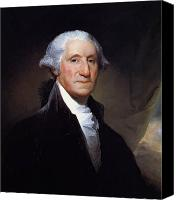 Washington Canvas Prints - President George Washington Canvas Print by War Is Hell Store