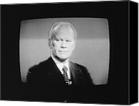 Tv Set Canvas Prints - President Gerald Ford 1913-2006, U.s Canvas Print by Everett