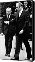 The White House Canvas Prints - President Gerald Ford Right, Walks Canvas Print by Everett