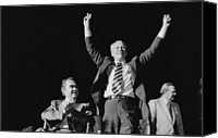 Democrats Canvas Prints - President Gerald Ford Shares The Stage Canvas Print by Everett