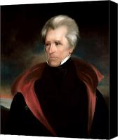 Founding Fathers Painting Canvas Prints - President Jackson Canvas Print by War Is Hell Store