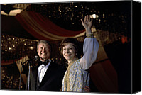 Black Tie Photo Canvas Prints - President Jimmy Carter And First Lady Canvas Print by Everett