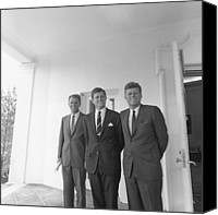 D.c. Canvas Prints - President John Kennedy Canvas Print by Everett