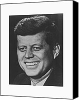 World Leader Canvas Prints - President John Kennedy Canvas Print by War Is Hell Store