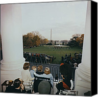 First Lady Canvas Prints - President Kennedy And His Family Watch Canvas Print by Everett