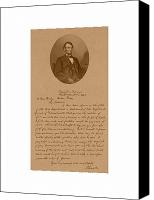 United States Mixed Media Canvas Prints - President Lincolns Letter To Mrs. Bixby Canvas Print by War Is Hell Store