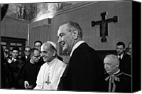 Vatican Canvas Prints - President Lyndon Johnson At The Vatican Canvas Print by Everett