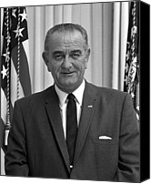 Lyndon Canvas Prints - President Lyndon Johnson Canvas Print by War Is Hell Store