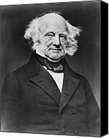 Usa President Canvas Prints - President Martin Van Buren 1782-1862 Canvas Print by Everett