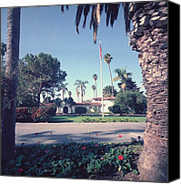 Clemente Photo Canvas Prints - President Nixons Home In San Clemente Canvas Print by Everett