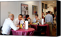 Bswh052011 Canvas Prints - President Obama And Vp Joe Biden Wait Canvas Print by Everett