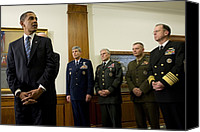 Bswh052011 Canvas Prints - President Obama At The Pentagon Canvas Print by Everett