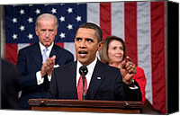 Bswh052011 Canvas Prints - President Obama Delivers An Address Canvas Print by Everett