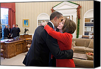 Bswh052011 Canvas Prints - President Obama Embraces House Speaker Canvas Print by Everett