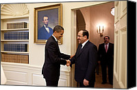 Bswh052011 Canvas Prints - President Obama Greets Iraqi Prime Canvas Print by Everett
