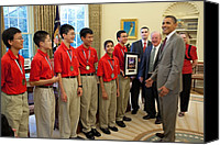 Bswh052011 Canvas Prints - President Obama Greets Mathcounts Canvas Print by Everett