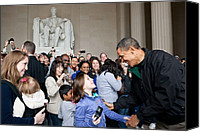 Bswh052011 Canvas Prints - President Obama Greets Tourists Canvas Print by Everett