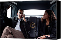 Bswh052011 Canvas Prints - President Obama In The Presidential Canvas Print by Everett