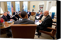 Bswh052011 Canvas Prints - President Obama Meets With Director Canvas Print by Everett