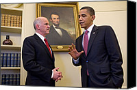 Bswh052011 Canvas Prints - President Obama Meets With Greek Prime Canvas Print by Everett