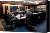 Bswh052011 Canvas Prints - President Obama National Security Canvas Print by Everett