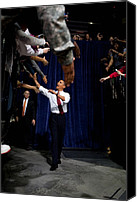Bswh052011 Canvas Prints - President Obama Shakes Hands Extended Canvas Print by Everett
