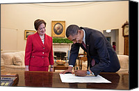 Bswh052011 Canvas Prints - President Obama Signs Elena Kagans Canvas Print by Everett