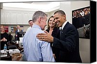 Bswh052011 Canvas Prints - President Obama Talks With White House Canvas Print by Everett