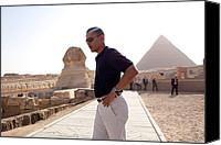 Barack Canvas Prints - President Obama Tours The Egypts Great Canvas Print by Everett