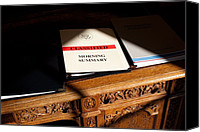 Bswh052011 Canvas Prints - President Obamas Classified Morning Canvas Print by Everett
