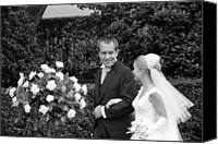 First Family Canvas Prints - President Richard Nixon Escorting Canvas Print by Everett