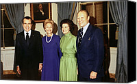 First Ladies Canvas Prints - President Richard Nixon, Pat Nixon Canvas Print by Everett
