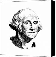 Us Patriot Canvas Prints - President Washington Canvas Print by War Is Hell Store