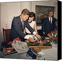 First Ladies Canvas Prints - Presidents Birthday Party, Given Canvas Print by Everett
