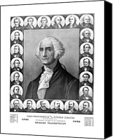 Thomas Canvas Prints - Presidents of The United States 1789-1889 Canvas Print by War Is Hell Store