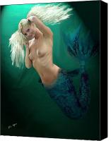 Sea Aquatic Canvas Prints - Pretty Blonde Canvas Print by Tray Mead