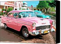 Havana Daydreams Canvas Prints - Pretty In Pink Canvas Print by Dominic Piperata