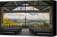 Christianity Canvas Prints - Pretty Place Chapel - Blue Ridge Mountains SC Canvas Print by Dave Allen